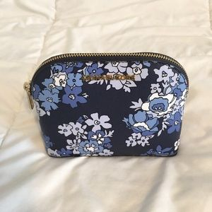 Michael Kors Blue Floral Makeup Bag